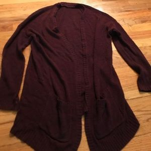 URBAN OUTFITTERS MAROON CARDIGAN